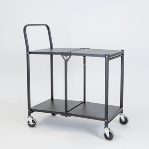 Solid Two shelf Folding Trolley b