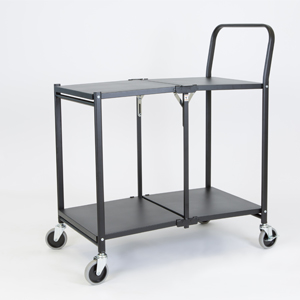 Solid Two shelf Folding Trolley c
