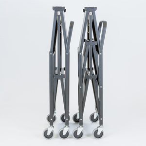 Solid three shelf folding trolley