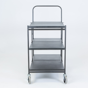 folding trolley solid three shelf empty c