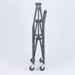 folding trolley solid three shelf folded f