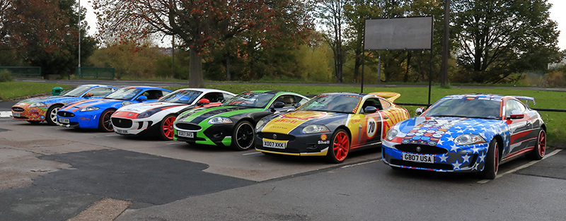 Row of Cars - Bluebell Wood Charity