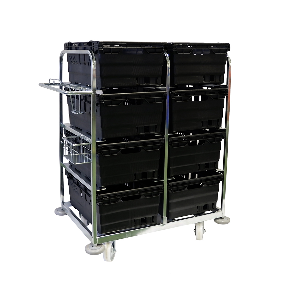 Internet Picking Trolley with Boxes