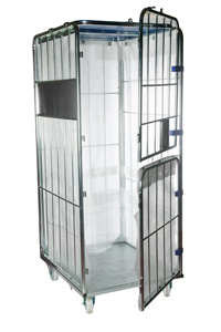 Double Gate Laundry Cage With Liner