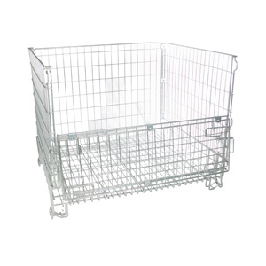 Wire Frame Stackable Container Open